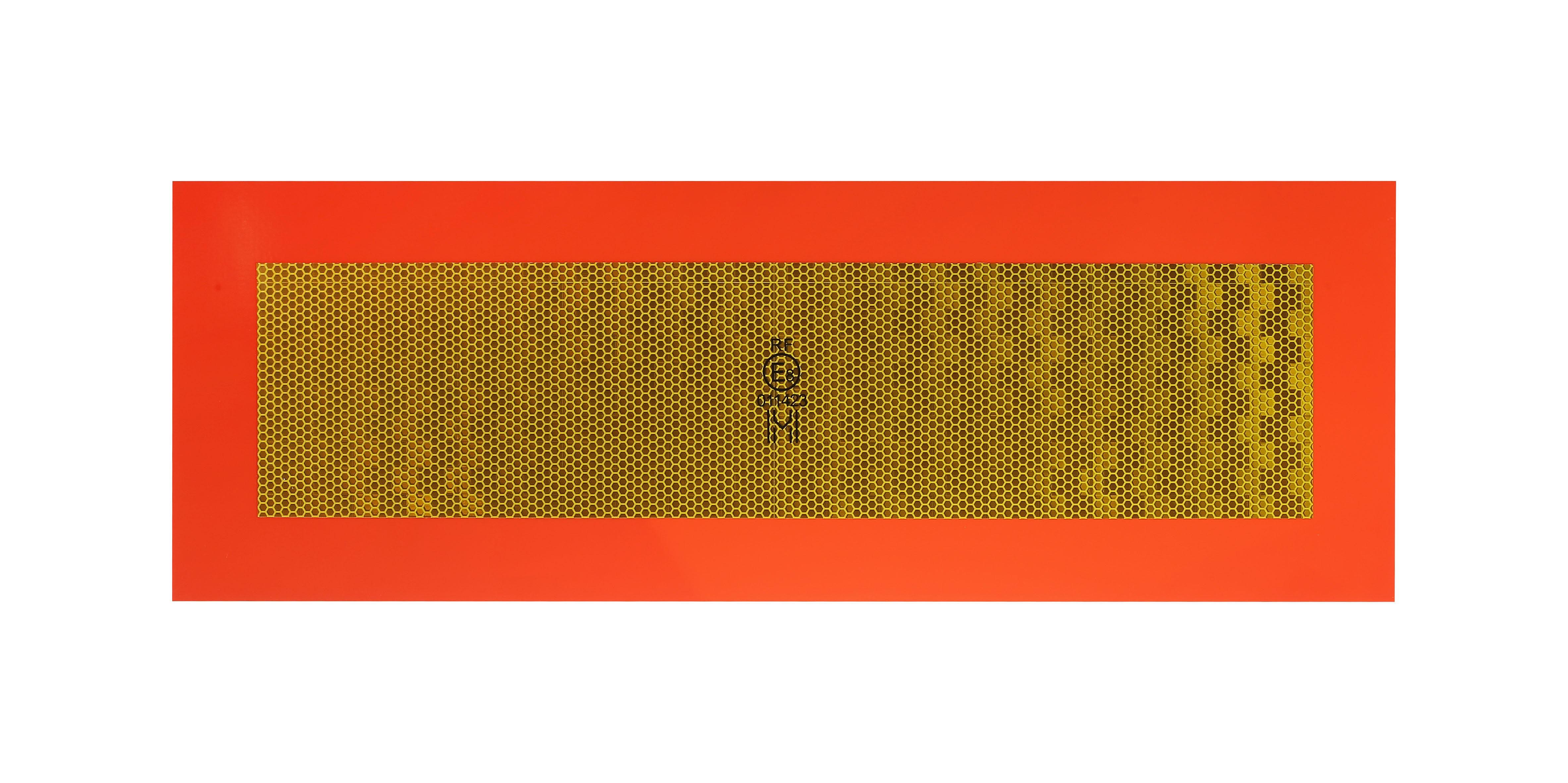 Tablica wyróżniająca na przyczepę nalepka RF 565 x 196 (2 szt.)
