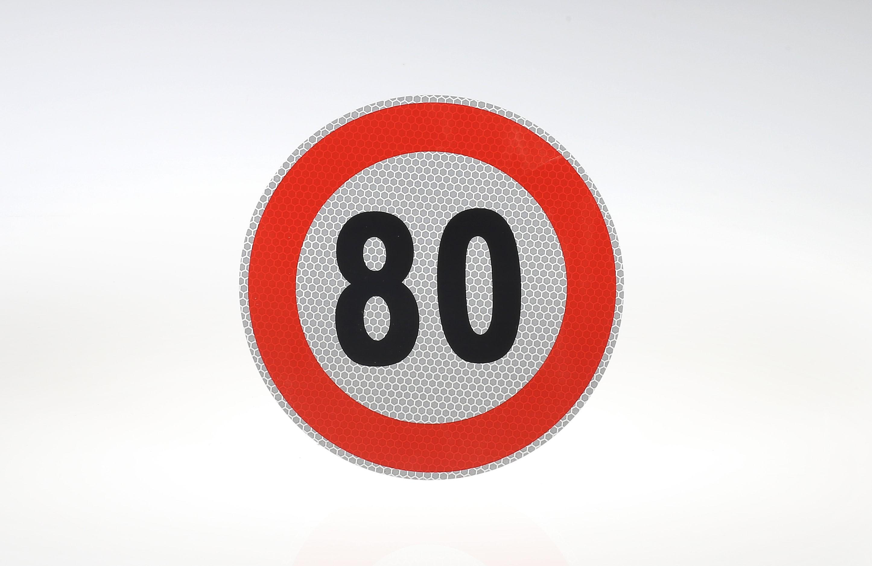 Limit prędkości odblask 80 km/h
