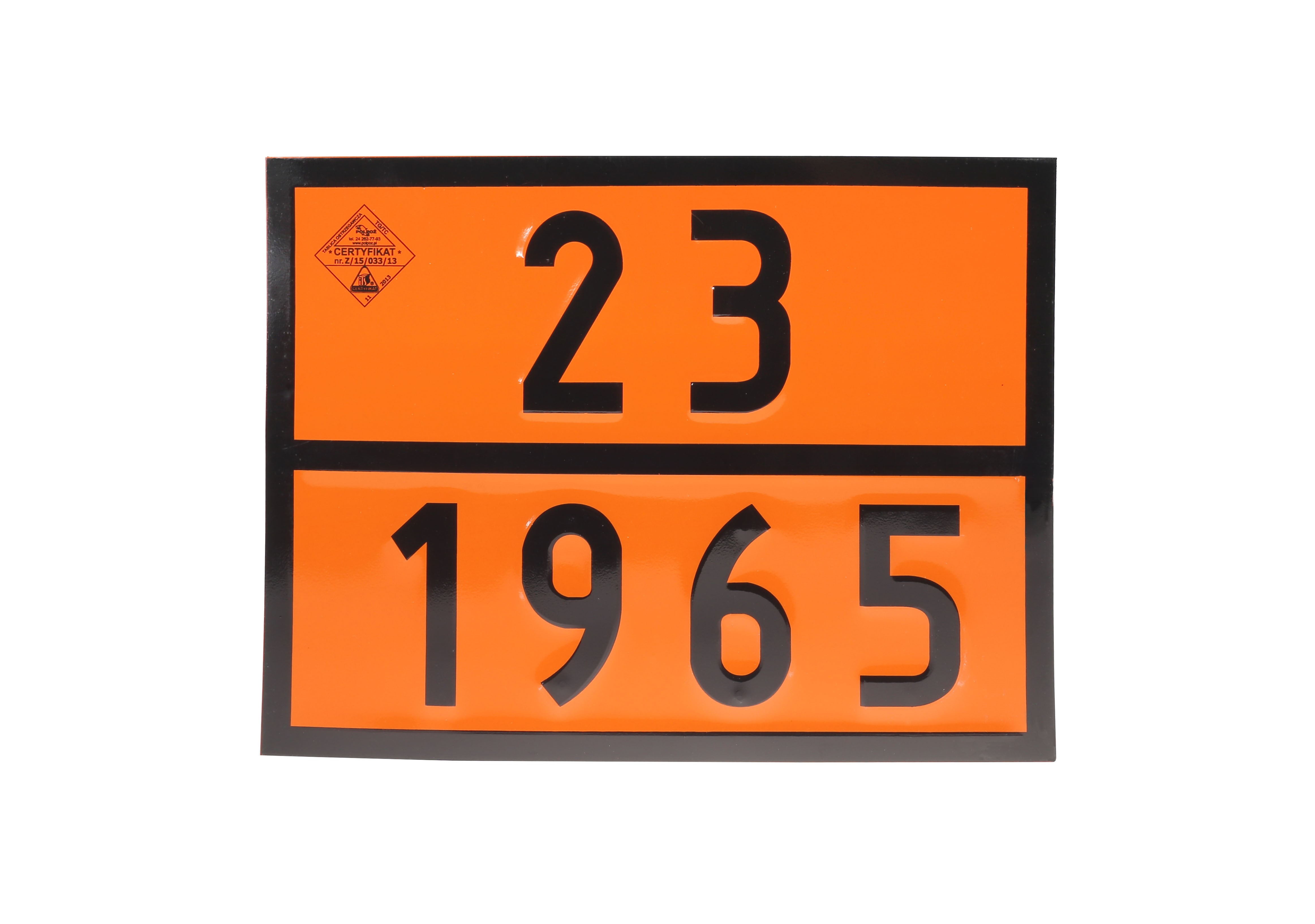 Tablica ADR numeryczna 23-1965 LPG