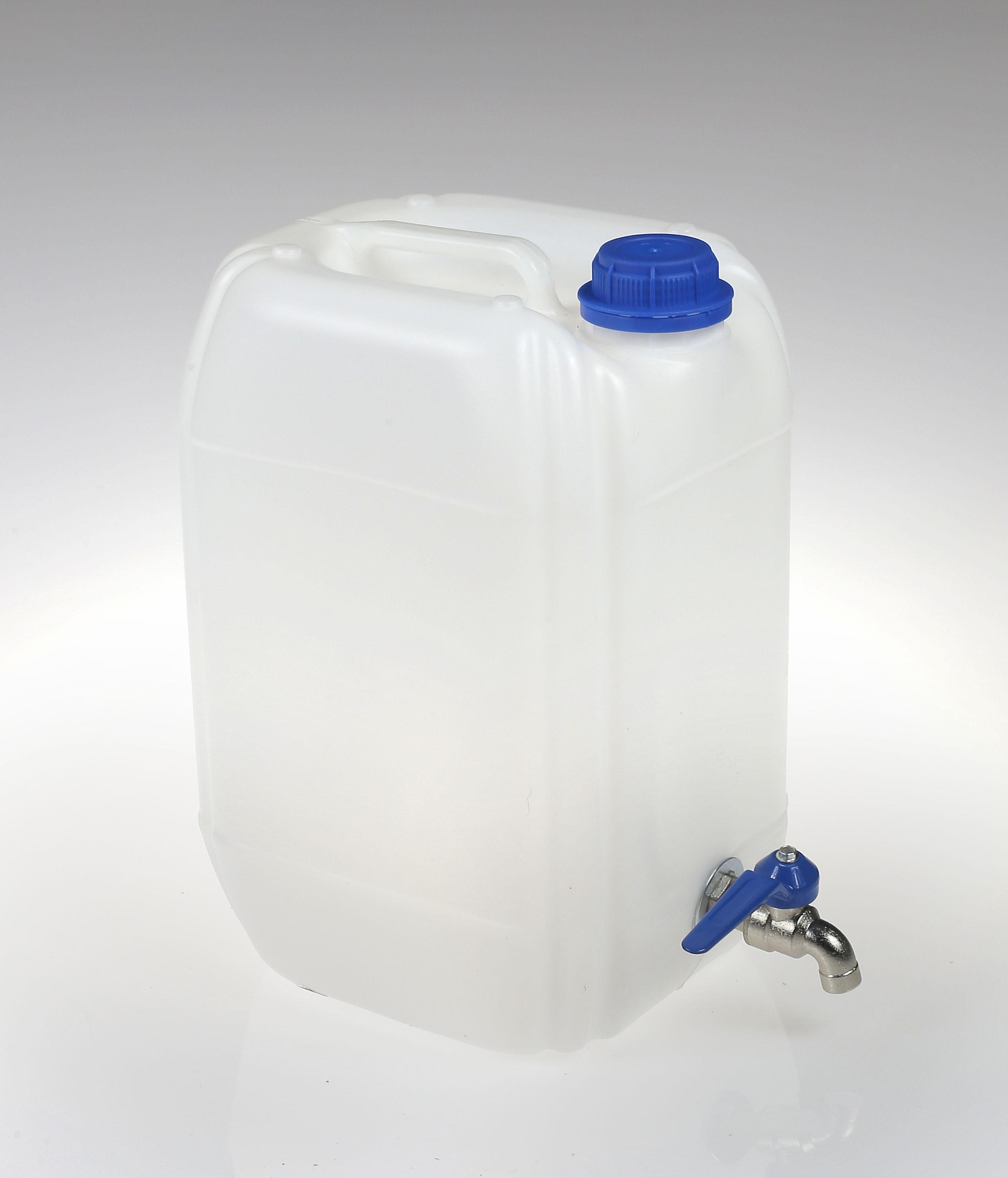 Pojemnik na wodę biały 10l kranik metal