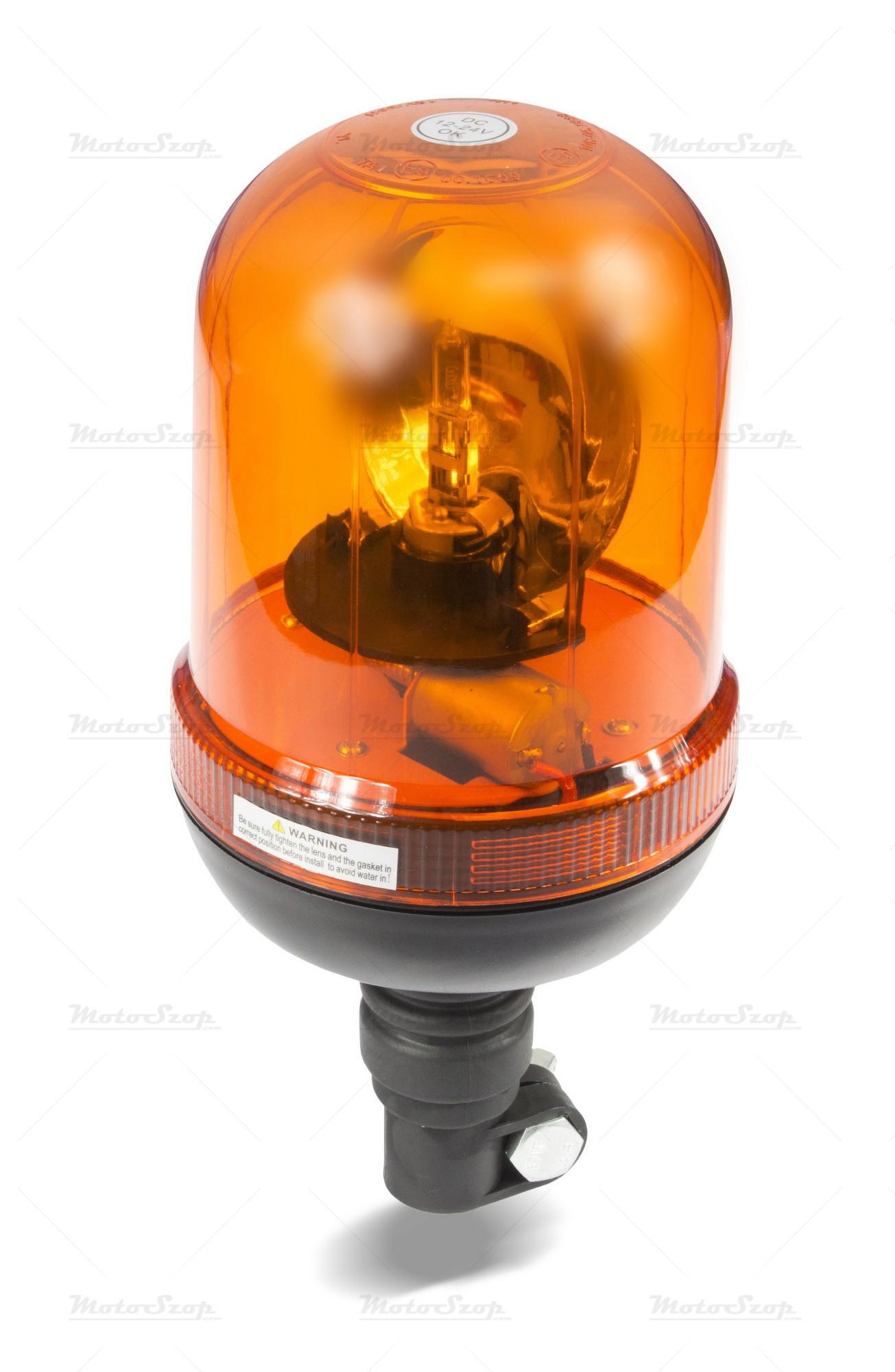 Lampa obrotowa kogut 12/24V elastyczny H1 55W