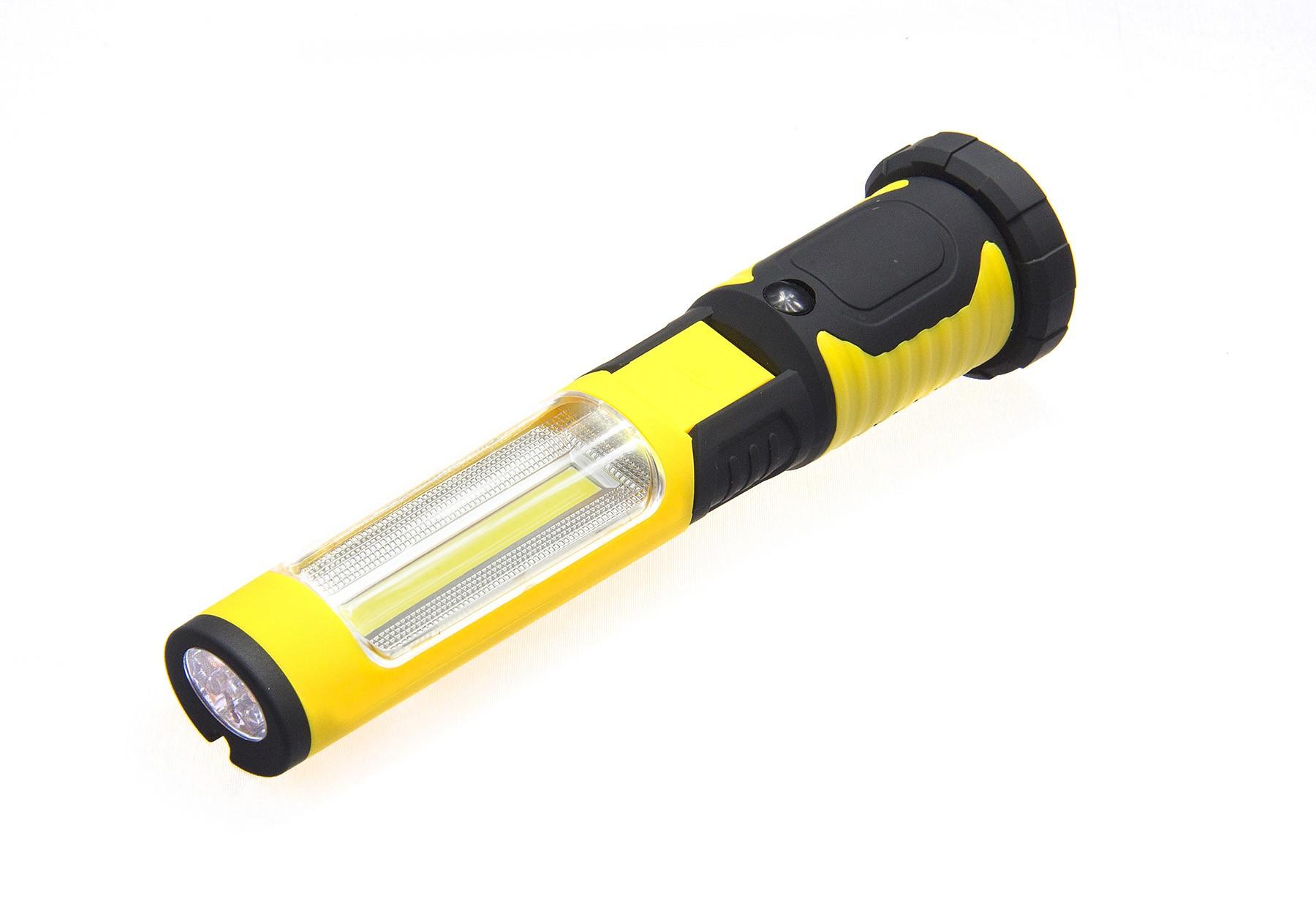 Latarka warsztatowa LED magnes łamana 3AAA