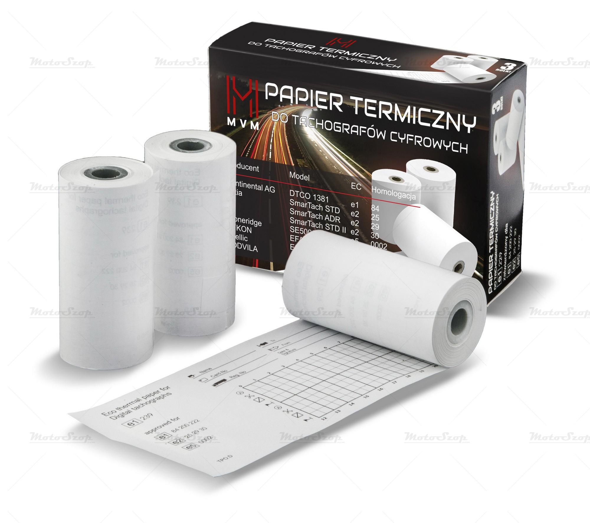 Papier termiczny do tachografów cyfrowych - rolki