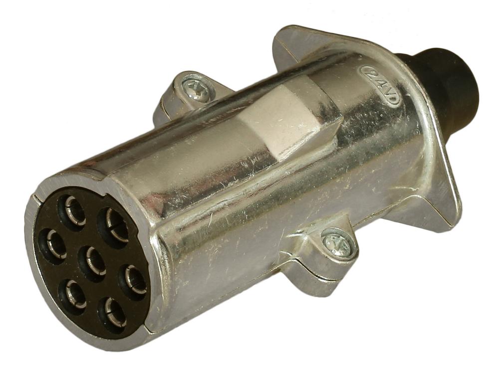 Wtyczka 7 pin 24V typ N metal