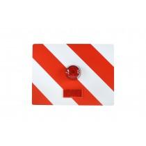 Tablica wyróżniająca p/g 400x300 prawa z oświetleniem czerwonym