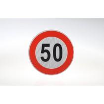 Limit prędkości odblask 50 km/h