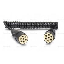 Przewód elektryczny spiralny z wtyczkami S plastik