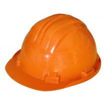 Kask ochronny trzypunktowy pomarańczowy