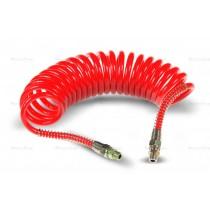 Przewód spiralny pneumatyczny M22 czerwony 5,5m
