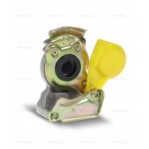 Złącze pneumatyczne twarde M22 x 1.5 żółte
