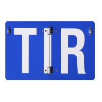 Tablica TIR składana pionowo