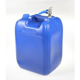 Pojemnik na wodę niebieski 20l kranik górny