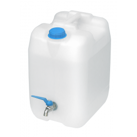 Pojemnik na wodę biały 20l kranik metal