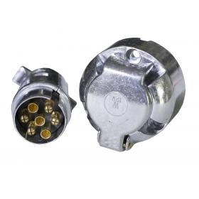 Wtyczka przyczepy 7 pin 12V metal