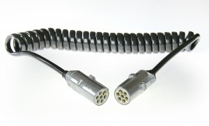 Przewód elektryczny spiralny z wtyczkami S metal