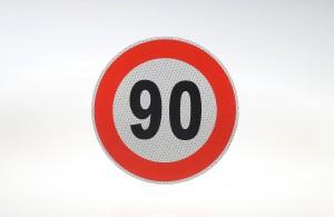 Limit prędkości odblask 90 km/h
