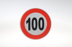 Limit prędkości odblask 100 km/h