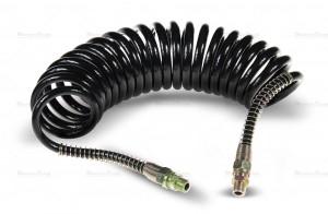 Przewód spiralny pneumatyczny M16 czarny 5,5m