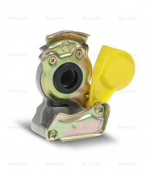 Złącze pneumatyczne twarde M16 x 1.5 żółte