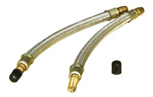 Przedłużka do pompowania kół oplot metal 180mm